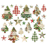 Simple Stories - Simple Vintage Christmas Ephemera Bits & Pieces Die-Cuts, 24 kpl