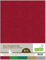 Lawn Fawn - Glitterkartonki, Holiday, A4, 5 arkkia