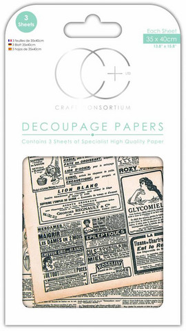 Craft Consortium - Decoupage Papers, Going to Press