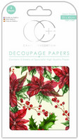 Craft Consortium - Decoupage Papers, Traditional Poinsettia