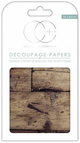 Craft Consortium - Decoupage Papers, Oak Top