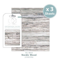 Craft Consortium - Decoupage Papers, Nordic Wood