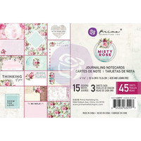 Prima Marketing - Misty Rose Journaling Notecards, 4