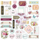 Prima Marketing - Misty Rose Ephemera & Stickers, 70 osaa