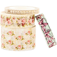 Prima Marketing - Misty Rose Decorative tape, 4 rullaa