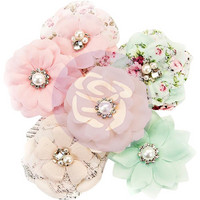 Prima Marketing -  Misty Rose Fabric Flowers, Addison