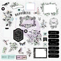 Prima Marketing - Flirty Fleur Ephemera Cardstock Die-Cuts, 38 osaa