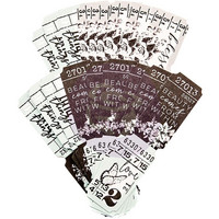 Prima Marketing - Flirty Fleur Die-Cut Paper Tickets, 36 osaa