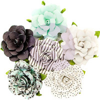 Prima Marketing -  Flirty Fleur Paper Flowers, Dots & Stripes