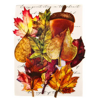 Prima Marketing -  Printed Fabric Leaf, Fall Pine