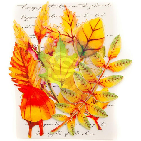 Prima Marketing -  Printed Fabric Leaf, Autumn Maple