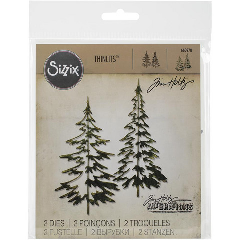 Tim Holtz - Sizzix Thinlits Dies, Woodlands, Stanssisetti