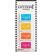 Ranger - Letter It Stamping Ink Set #3, Leimamustetyynysetti