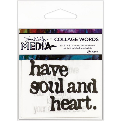 Dina Wakley Media - Collage Word Pack #2