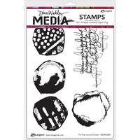 Dina Wakley Media - Cling Stamps, For The Love Of Circles, Leimasetti