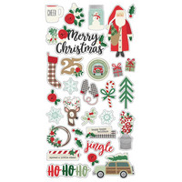 Simple Stories - Merry & Bright Chipboard Stickers 6