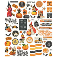Simple Stories - Simple Vintage Halloween Bits & Pieces Die-Cuts, 65 osaa