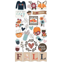 Simple Stories - Forever Fall Chipboard Stickers 6