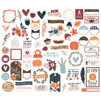 Simple Stories - Forever Fall Bits & Pieces Die-Cuts, 66 osaa