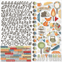 Simple Stories - Hello Fall Cardstock Stickers 12