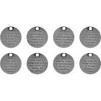 Tim Holtz - Idea-Ology Metal Quote Tokens, Halloween, 8 kpl