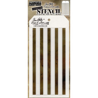 Tim Holtz - Layered Stencil, Shifter Stripes