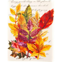 Prima Marketing -  Printed Fabric Leaf, Fall Solstice
