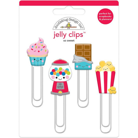 Doodlebug - Jelly Clips, So Sweet, 4 kpl