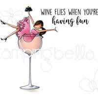 Stamping Bella - Uptown Girl Wilma Loves Wine, Leimasetti