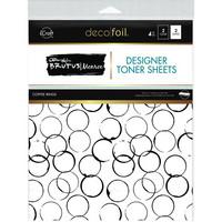 Deco Foil - Brutus Monroe Deco Foil Toner Sheets, Coffee Rings, 8,5