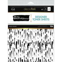 Deco Foil - Brutus Monroe Deco Foil Toner Sheets, Brush Strokes, 8,5