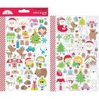 Doodlebug - Mini Cardstock Stickers, Christmas Town Icons, 2 arkkia