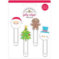 Doodlebug - Jelly Clips, Holiday Cheer, 4 kpl