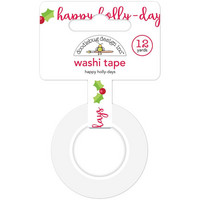 Doodlebug - Washi Tape, Happy Holly-Days, 15mmX11m
