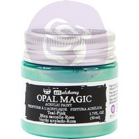 Prima Marketing - Finnabair Art Alchemy Acrylic, Opal Magic Teal-Pink