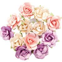 Prima Marketing -  Moon Child Paper Flowers, Pearlescent Gamma Ray
