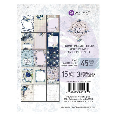 Prima Marketing - Georgia Blues Journaling Notecards, 3