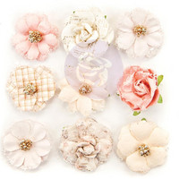 Prima Marketing -  Lavender Frost Paper Flowers, 12th Night