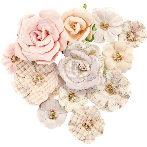Prima Marketing -  Lavender Frost Paper Flowers, Beautiful Frost