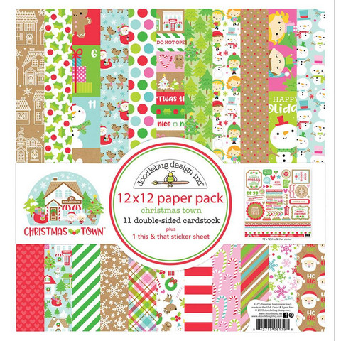 Doodlebug - Christmas Town, Double-Sided Paper Pack 12