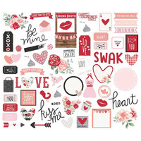 Simple Stories - Kissing Booth Bits & Pieces Die-Cuts, 66 osaa