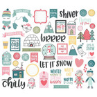 Simple Stories - Freezin' Season Bits & Pieces Die-Cuts, 54 osaa