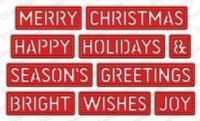 Impression Obsession - Christmas Stitched Words, Stanssisetti