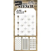 Tim Holtz - Mini Layered Stencil, Set #37