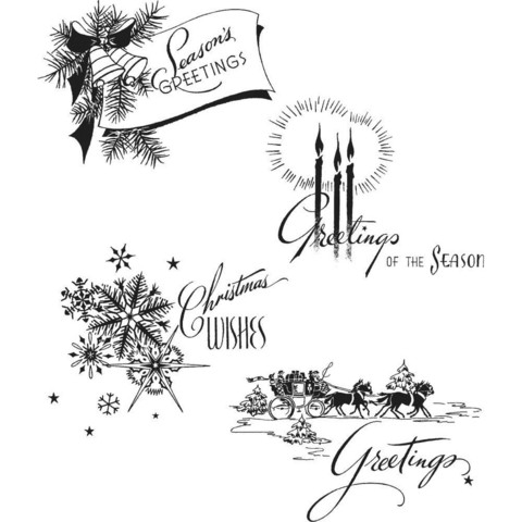 Tim Holtz - Holiday Greetings, Leimasetti
