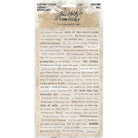 Tarrasetti, Tim Holtz Idea-Ology Clippings Stickers, Christmas