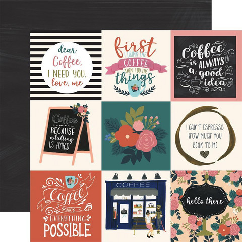 Echo Park - Coffee Double-Sided Cardstock 12