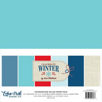 Echo Park - Celebrate Winter Double-Sided Solid Cardstock 12