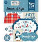 Echo Park - Celebrate Winter Cardstock Die-Cuts, Leikekuvia, Frames & Tags, 33 kpl