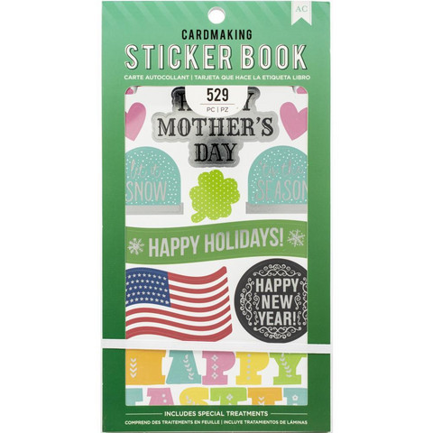 American Crafts - All The Holidays Sticker Book, Tarrasetti
